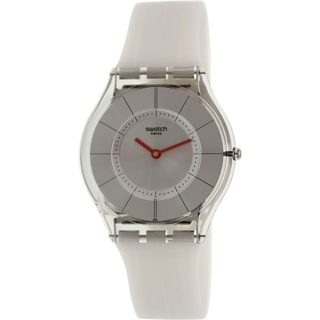 Swatch Women's Skin SFM129 Grey Rubber Swiss Quartz Watch