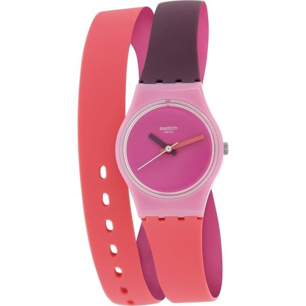 Swatch Women's Originals LP137 Two-Tone Silicone Swiss Quartz Pink Dial Watch