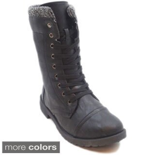 Blue Women's 'Millie Sweat' Lace-up Combat Boots