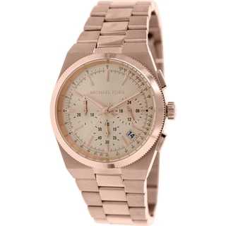 Michael Kors Women's Channing MK5927 Rose-Gold Stainless-Steel Quartz Watch with Rose-Gold Dial
