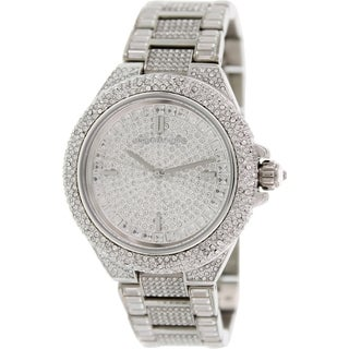 Michael Kors Women's Camille MK5869 Silver Stainless-Steel Quartz Watch with Silver Dial
