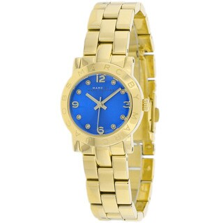 Marc Jacobs Women's MBM3304 Amy Blue Dial Goldtone Watch