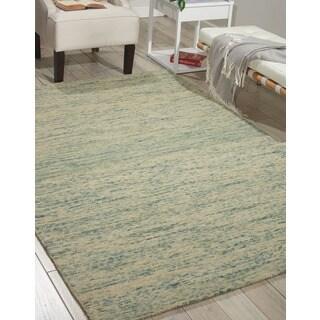 Nourison Sterling Seafoam Wool Area Rug (5' x 7'6)