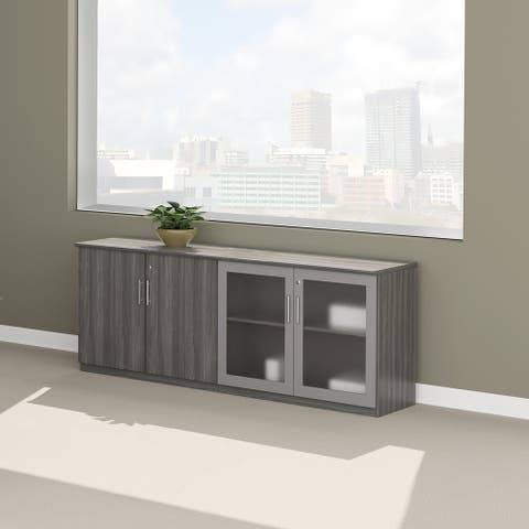 Mayline Medina 72 in. W x 20 in. D Low Wall Cabinet with Doors
