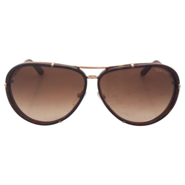 70d87ef26d Shop Tom Ford Unisex  TF 109 Cyrille 28K  Aviator Sunglasses - Free ...