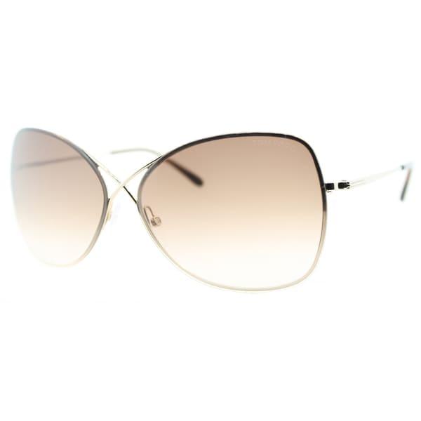 Tom Ford Women's 'TF250 Collete 28F' Rimless Sunglasses
