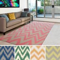 Hand-woven Montmorency Flatweave Wool Area Rug - 5' x 8'