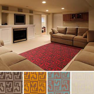 Hand-woven Lilas Flatweave Wool Rug (3'6 x 5'6)