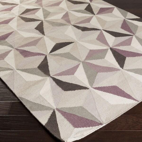 Hand-woven Boulder Flatweave Wool Rug (2' x 3')