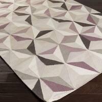 Hand-woven Boulder Flatweave Wool Area Rug (2' x 3')