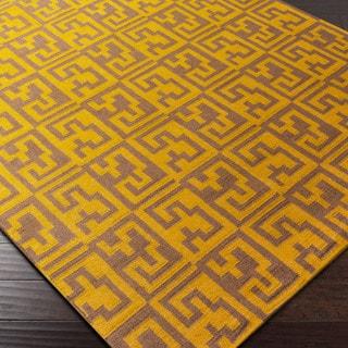 Hand-woven Boise Flatweave Abstract Wool Area Rug