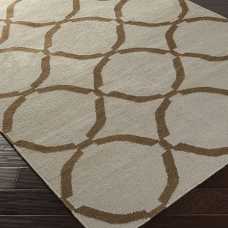 Hand-woven Birmingham Flatweave Wool Rug (2' x 3')