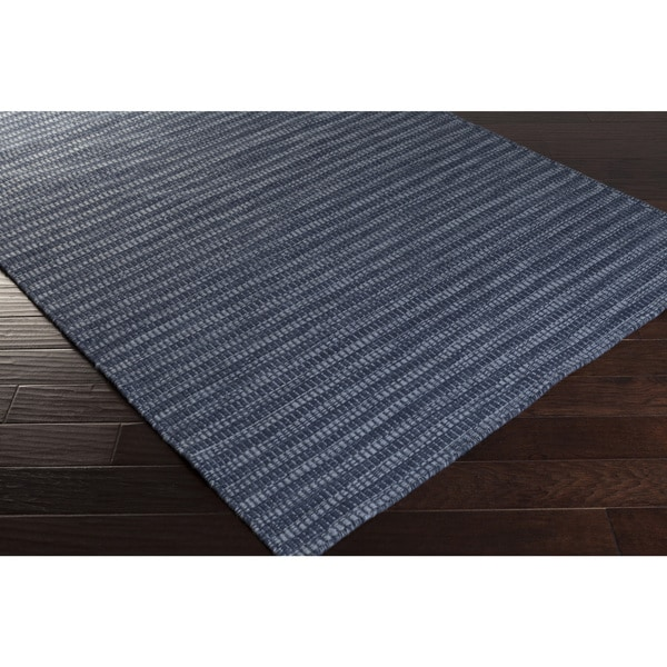 Shop Hand-Woven Bernie Solid Wool Area Rug