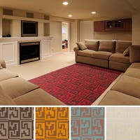 Hand-woven Shreveport Flatweave Wool Area Rug - 8' x 11'