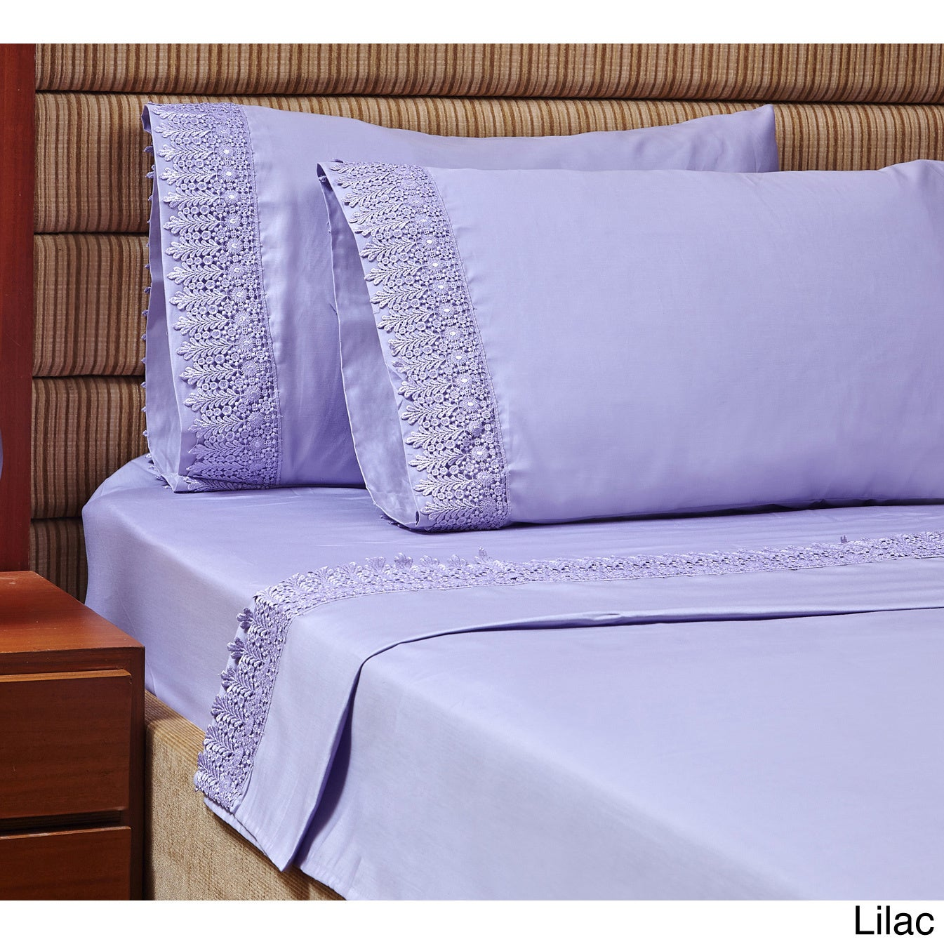 Home Garden 1000 Thread Count Egyptian Cotton Deep Pocket 6 Pc Sheet Set Lilac Color Sheets