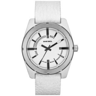 Diesel Men's DZ1599 Stainless Steel White Dial Leather Watch