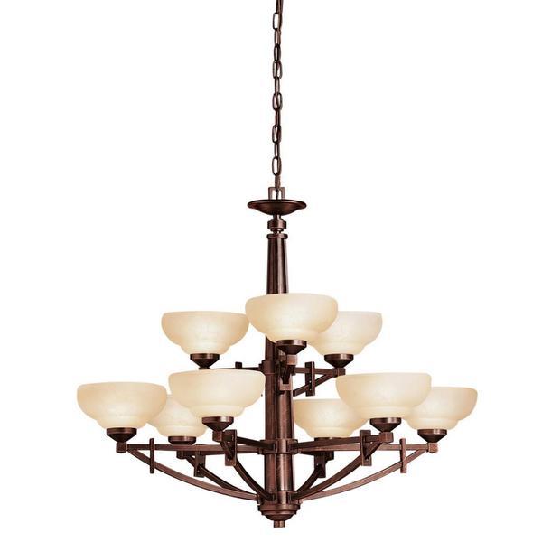 Shop Transitional 9-light Olde Auburn Chandelier With