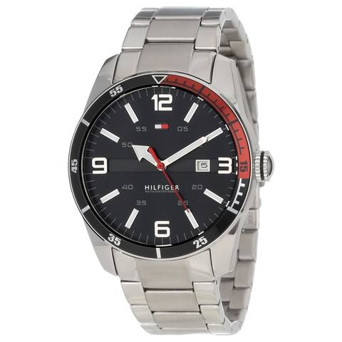 Tommy Hilfiger Men's 1790916 Noah Black Dial Stainless Steel Watch