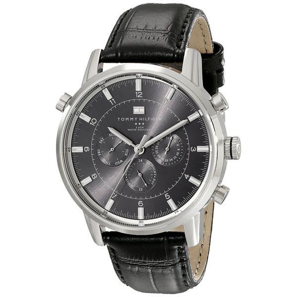 tommy hilfiger men s 1790875 black leather watch shipping tommy hilfiger men s 1790875 black leather watch