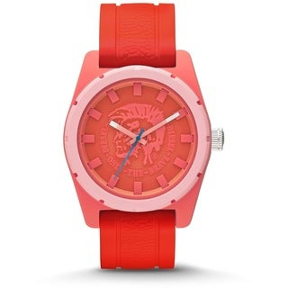 Diesel Men's Stainless Steel Coral Silicone Strap Watch