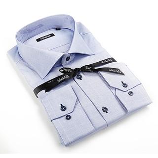 Georges Rech Men's Blue Button-down Dress Shirt
