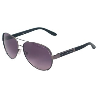Marc Jacobs 'MMJ 378/S CVLEU' Dark Ruthenium Aviator Sunglasses