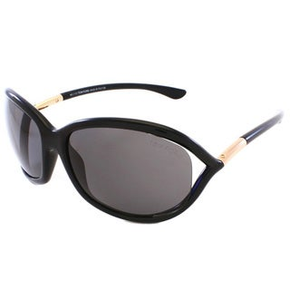Tom Ford Women's 'TF8 Jennifer 01D' Shiny Black Polarized Sunglasses
