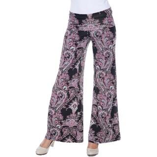White Mark Women's Paisley Palazzo Pants (4 options available)