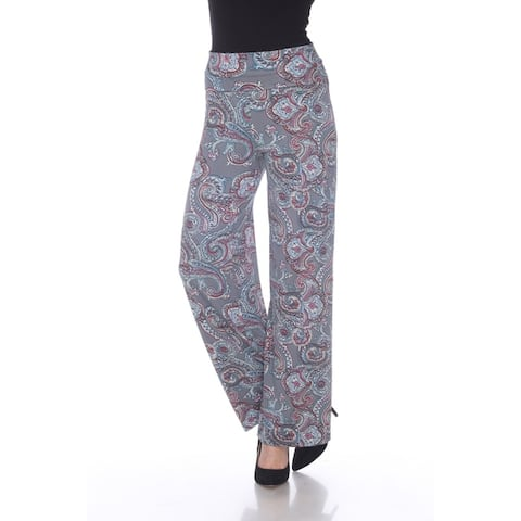 White Mark Women's Paisley Palazzo Pants