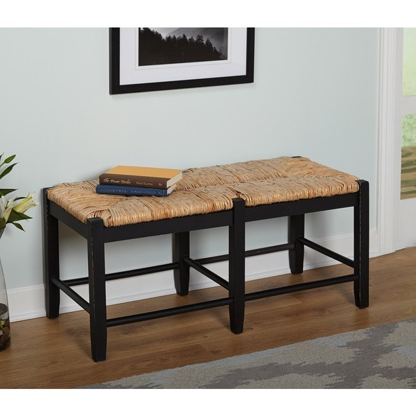 Simple Living Ashby Black Wood Bench Free Shipping Today