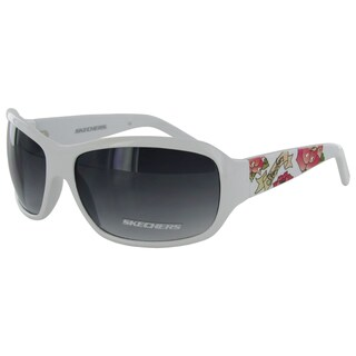 Skechers Women's 4024 Floral Fashion Sunglasses - Medium - Purple (Option: White)