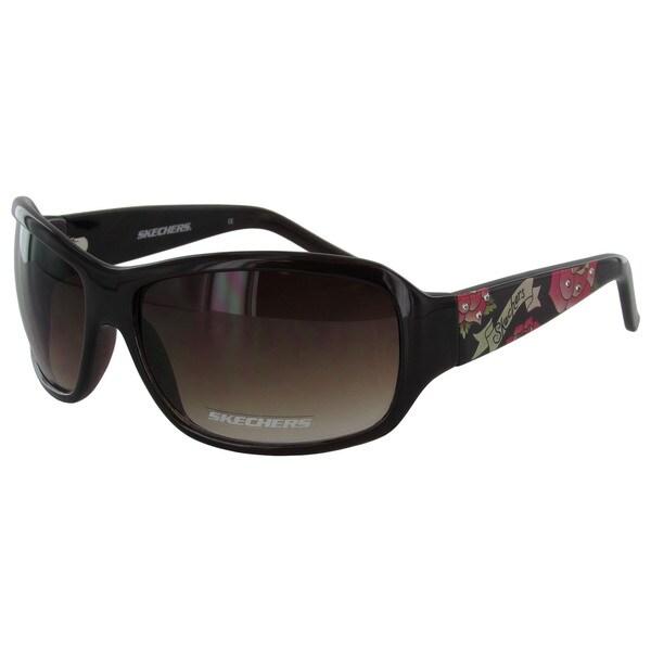 74d81d8b51ab Skechers Women's 4024 Floral Fashion Sunglasses - Medium - Purple