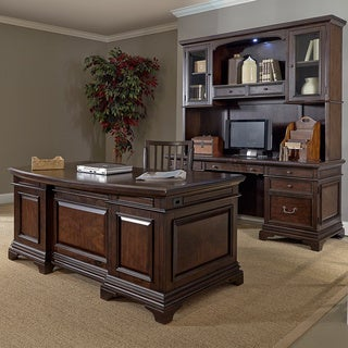 Drake 72-inch Executive Desk and Credenza with Hutch