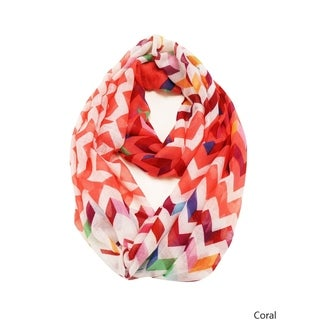 Le Nom Multi-colored Chevron Infinity Scarf