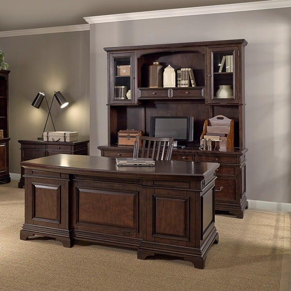 Drake 72 Inch Executive Desk Credenza With Hutch Lateral