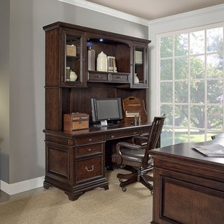 Drake 74-inch Credenza and Hutch with Office Chair