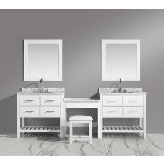 Design Element London Make-up Table and Single-sink Vanity Set