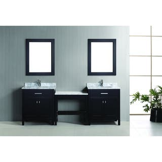 espresso vanity set with bench. Design Element London 90 inch Espresso Vanity Set with Makeup Table  and Bench Seat Bathroom Vanities Cabinets For Less