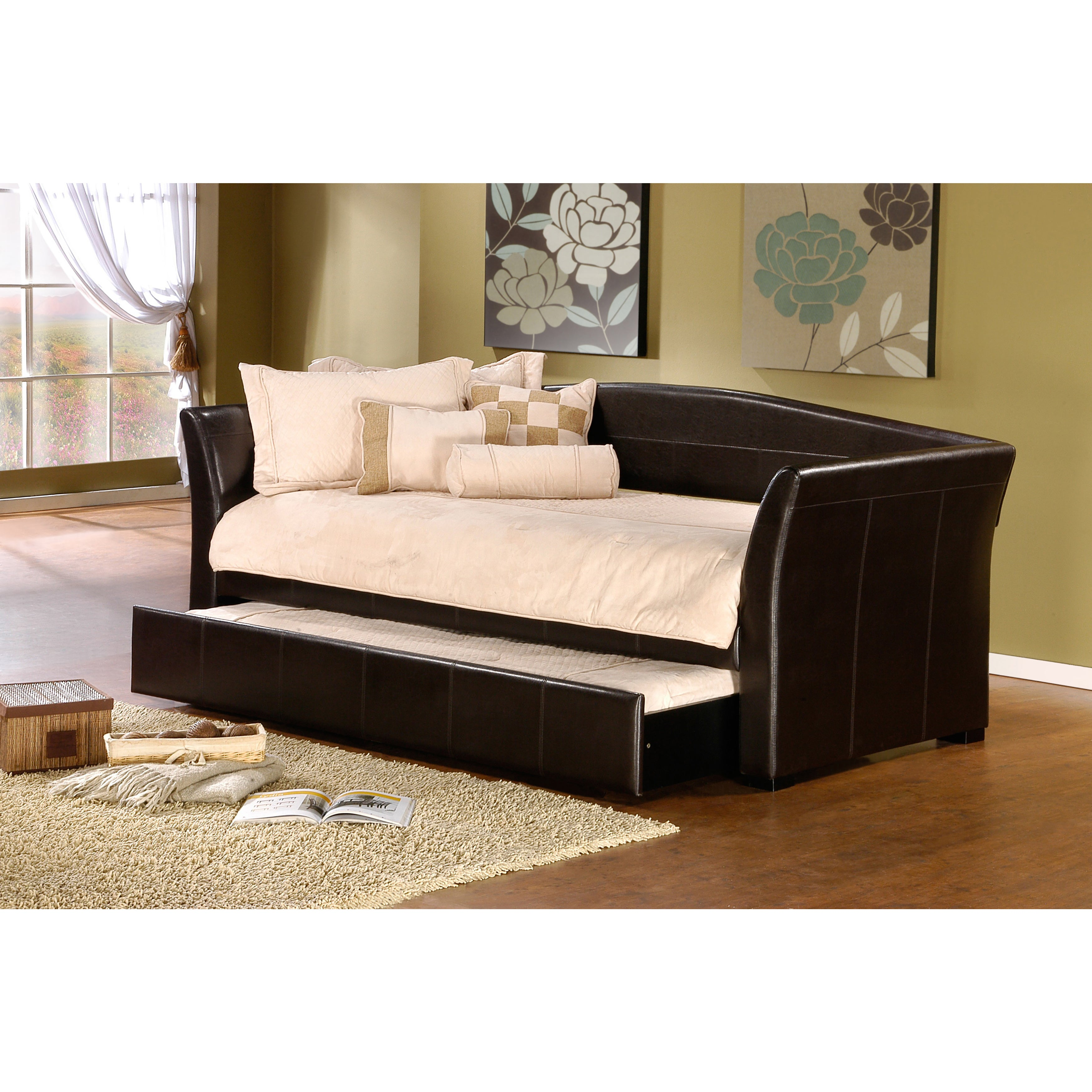 Hillsdale Montgomery Daybed (Brown Trundle - Brown Finish...