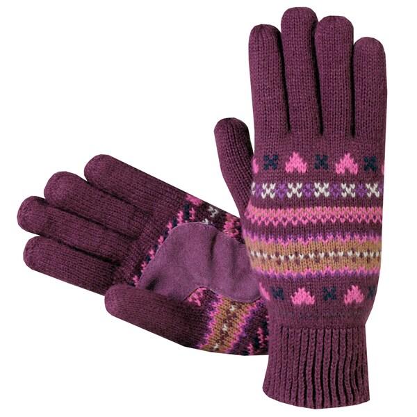 Isotoner Women's Fair Isle Knit Cotton Gloves - Free Shipping On ...