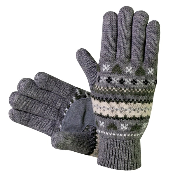 Isotoner Women's Fair Isle Knit Cotton Gloves - Free Shipping On ...