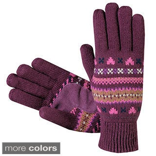 Isotoner Women's Fair Isle Knit Cotton Gloves