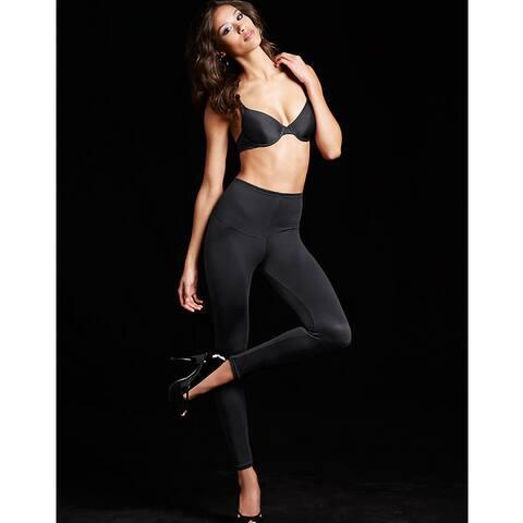 Flexees 'Fat Free Dressing' Black Leggings