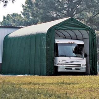 ShelterLogic Green Automotive/ Boat Peak Style Outdoor Garage Storage Shed 18 feet wide x 28 feet long x 10 feet high