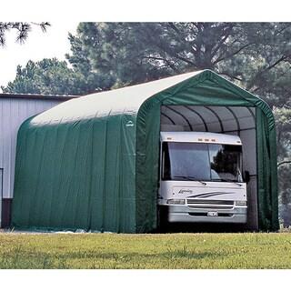 ShelterLogic Green Automotive/ Boat Peak Style Outdoor Garage Storage Shed 18 feet wide x 24 feet long x 10 feet high