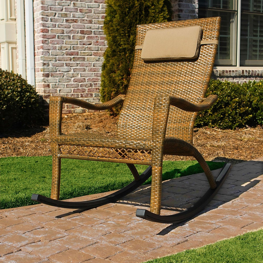 Tortuga Maracay Wicker Outdoor Rocking Chair (Tree Bark W...