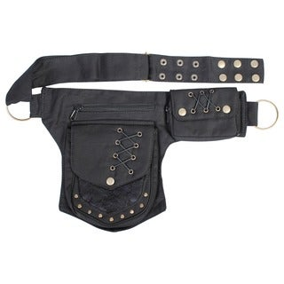 Handmade Unisex Punk Cotton Utility Belt (India)