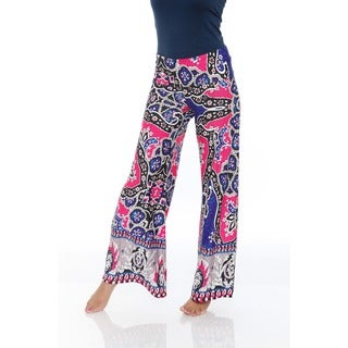 White Mark Women's Multi Color Palazzo Pants