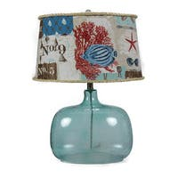Somette Spa Glass Nautical Patchwork Shade Table Lamp