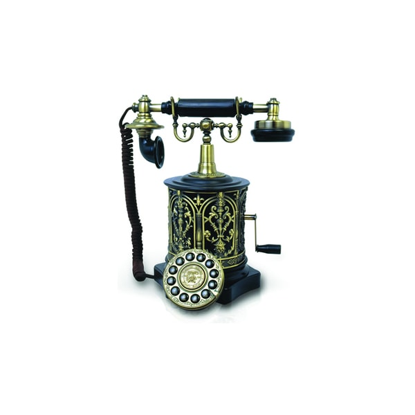 Paramount Biscuit Barrel 1893 Reproduction Phone with Faux Rotary Dial